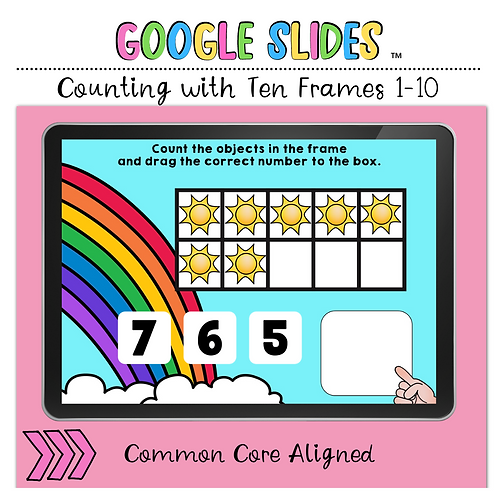 Counting Ten Frames 1 to 10 Google Slides™ Activity