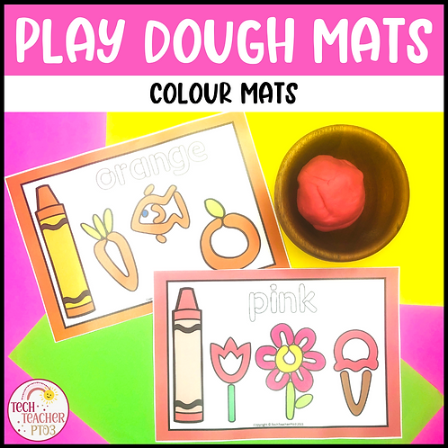 Colour Play Dough Mats
