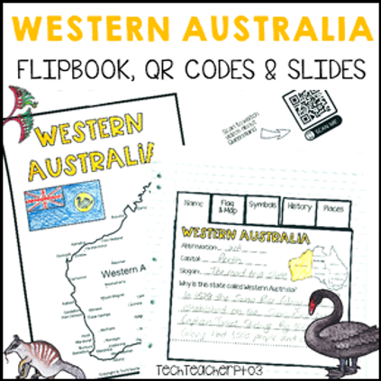 Western Australia Interactive Notebook and Slides