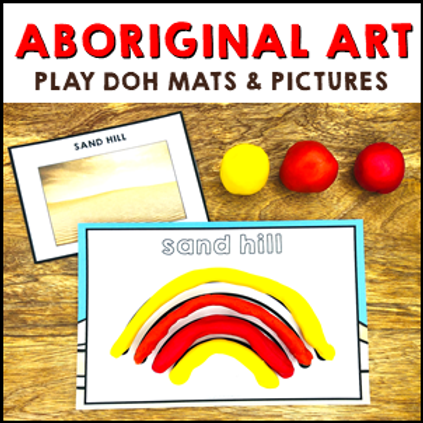Aboriginal Art Play Dough Mats
