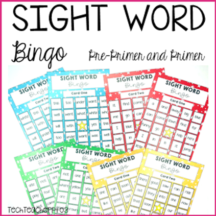 Sight Word Bingo Cards - Pre-Primer and Primer Activities