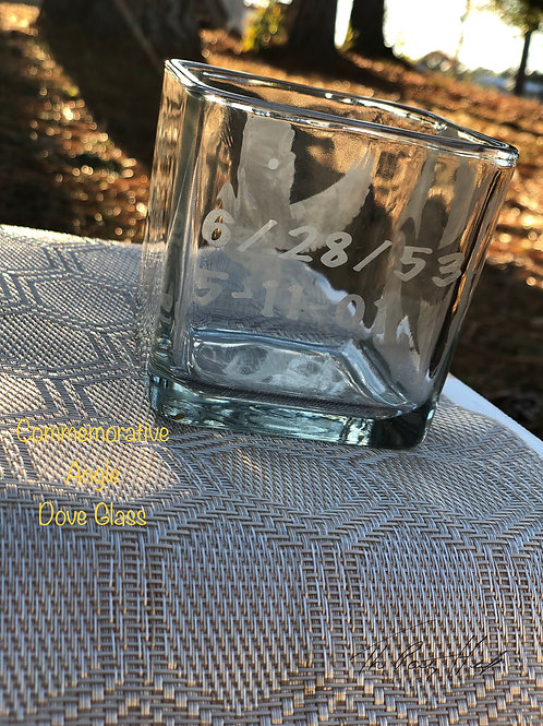 Commemorative Angel Dove Glass