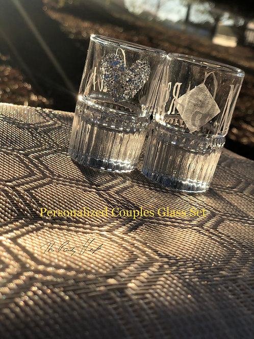 Personalized Couples Glass Set