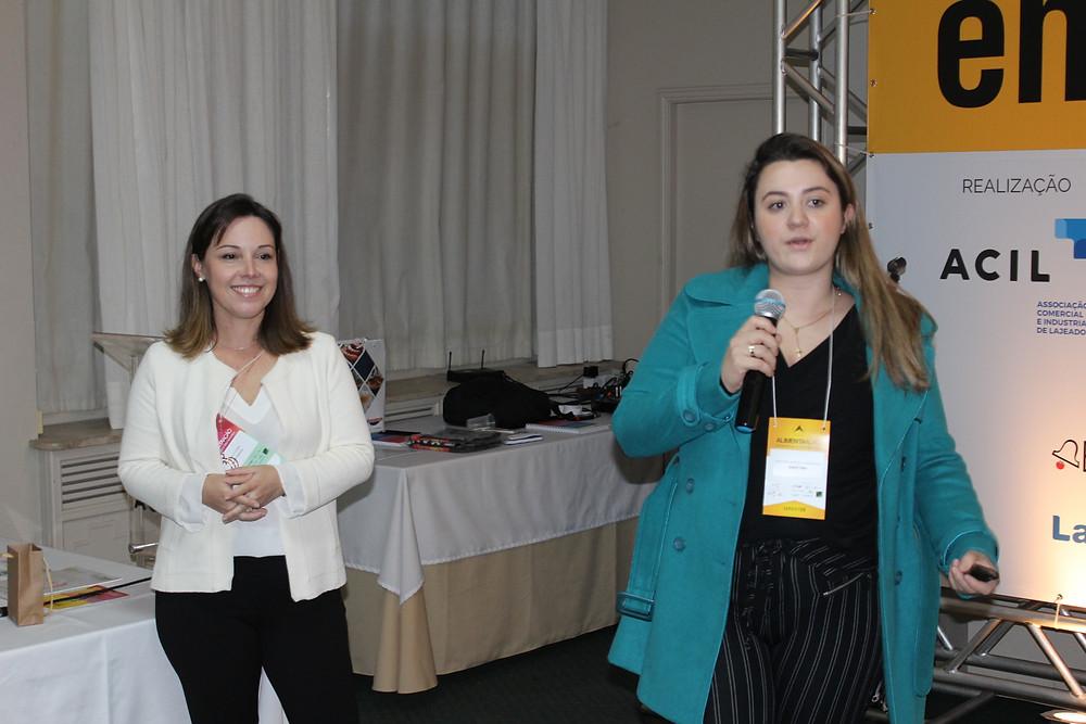 """A apresentação conjunta de Bárbara Pottker e Beatriz Fernandes teve como mote os """"Ingredientes Funcionais"""" - Crédito: Clarissa Jaeger"""