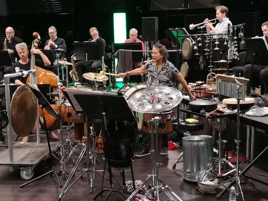 MM rehearsing w. DR big band (2018)