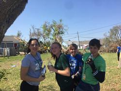 Delphian students volunteering