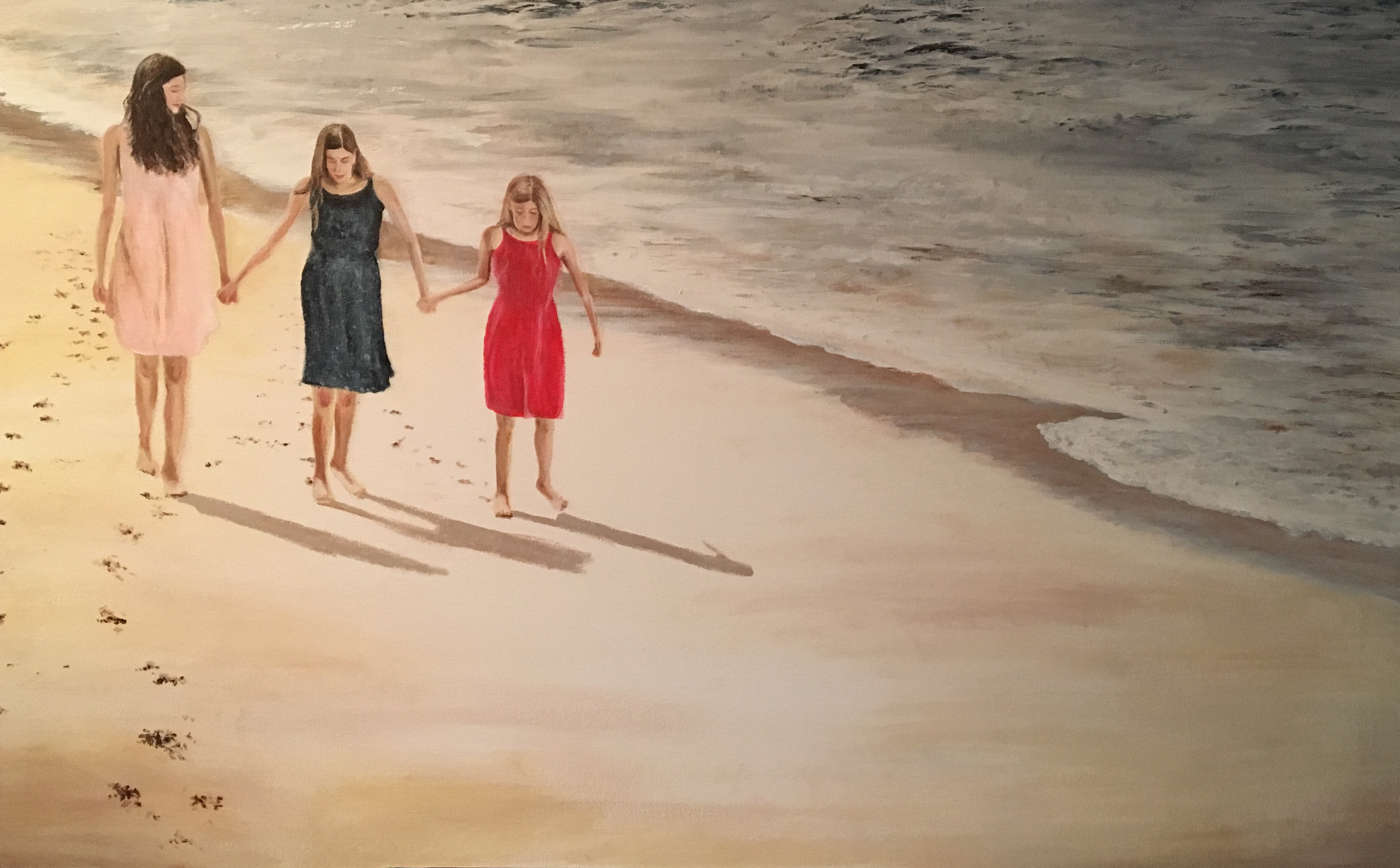 Three Girls on a Beach