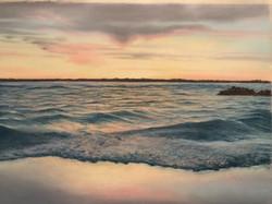 Sunset on Choppy Waters