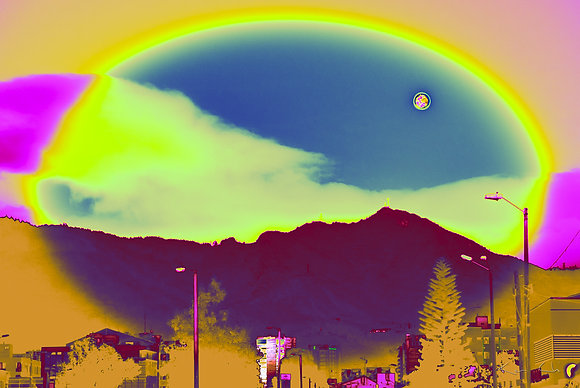 Moon Landscape Emotions no.2 yellow purple