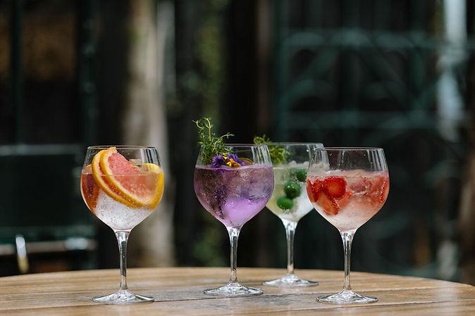 Gin cocktails, gin bar, cocktails, mixology