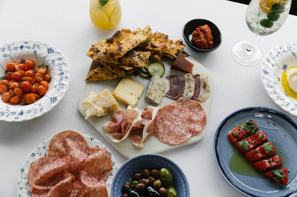 Italian bar and restaurant, cocktails, cheese, pasta and pizza