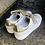 Thumbnail: Leder Sneaker  in weiß gesteppt