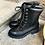 Thumbnail: Elegante Leder-Schnürstiefelette in schwarz