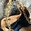 Thumbnail: Ledertasche in Cognac mit hochwertiger Goldkette