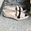 Thumbnail: Rauleder Ballerina-Style, taupe-schwarz