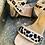 Thumbnail: Taupé Leder-Sandale mit Leopard-Optik Einsätzen