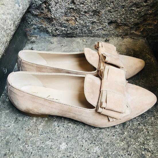 RauLeder Ballerina-Art Roséfarben
