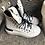 Thumbnail: Leder-Sneaker in weißem Vintagelook