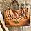 Thumbnail: Cognac Ledertasche mit Nieten, Made Italy