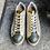 Thumbnail: Fancy Leder-Sneaker Grün/Gold , Geflochtenes Leder