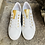 Thumbnail: Leder  Sneaker  in Weiss / Gold