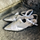 Thumbnail: Silber perlen Leder Ballerina-Art