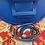 Thumbnail: Blitzblaue Leder Tasche