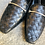 Thumbnail: Schwarzer Leder-Mokasin geflochten