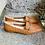Thumbnail: Cognac Leder-Mokasin geflochten