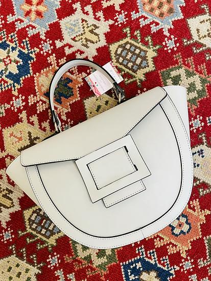 Hellgraue Leder Tasche