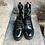 Thumbnail: Feminine Schnürstiefelette in geschliffenem Leder, schwarz