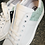 Thumbnail: Leder  Sneaker  in Weiss / Salbei