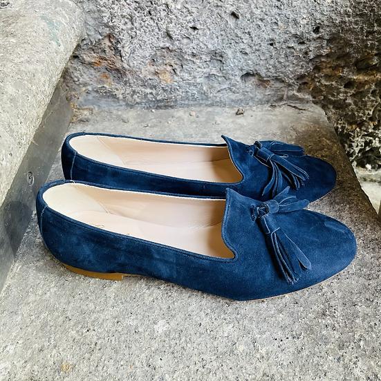 Leder Loafer Blau
