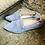 Thumbnail: Bequemer Rauleder Ballerina-Style, Jeansblau