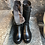 Thumbnail: Lammfell gefütterte, schwarze Nappa-Leder Boots