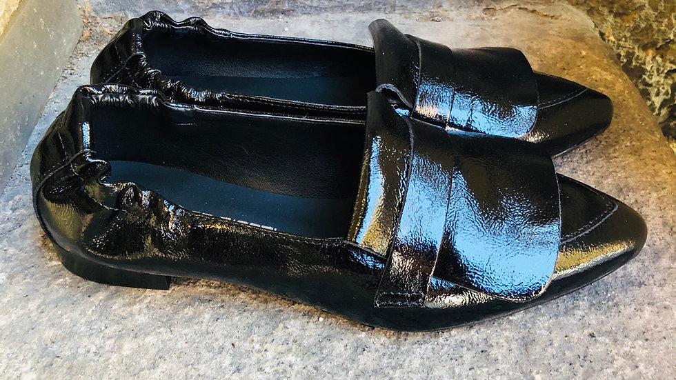 Lack-Leder Ballerina-Style in schwarz