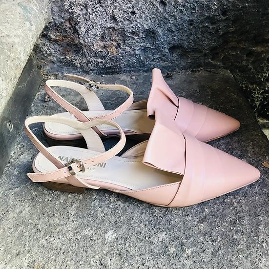 Rosé Leder Ballerina-Art