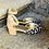 Thumbnail: Beige - Leopard Optik ( echtes Fell)  Ballerina - Art