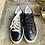 Thumbnail: Leder  Sneaker  in Schwarz mit weisse Sohle