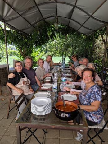 Pranza in the giardino (lunch in the garden)