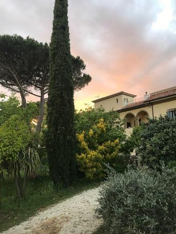 Beautiful gardens surround the Villa