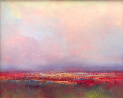 Red Comes Alive in Evening Light 22x28 o