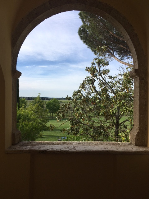 A perfectly framed view from our villa
