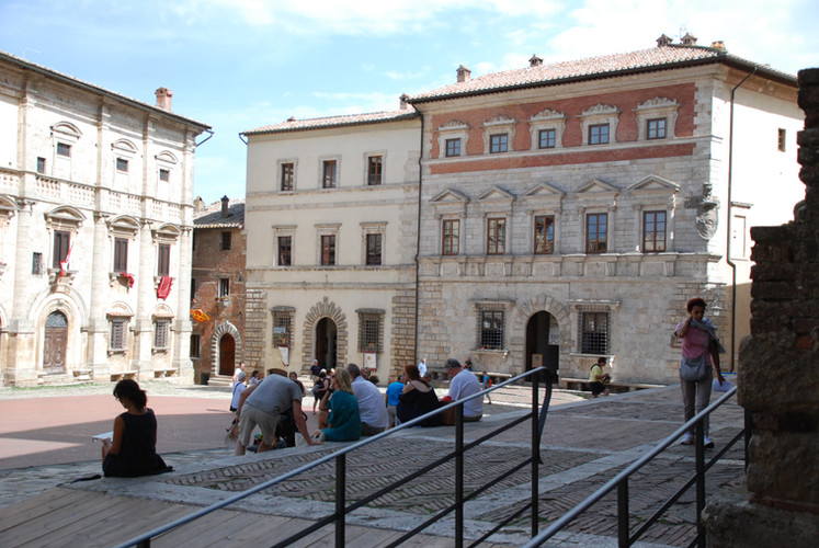 Visiting a local Piazza