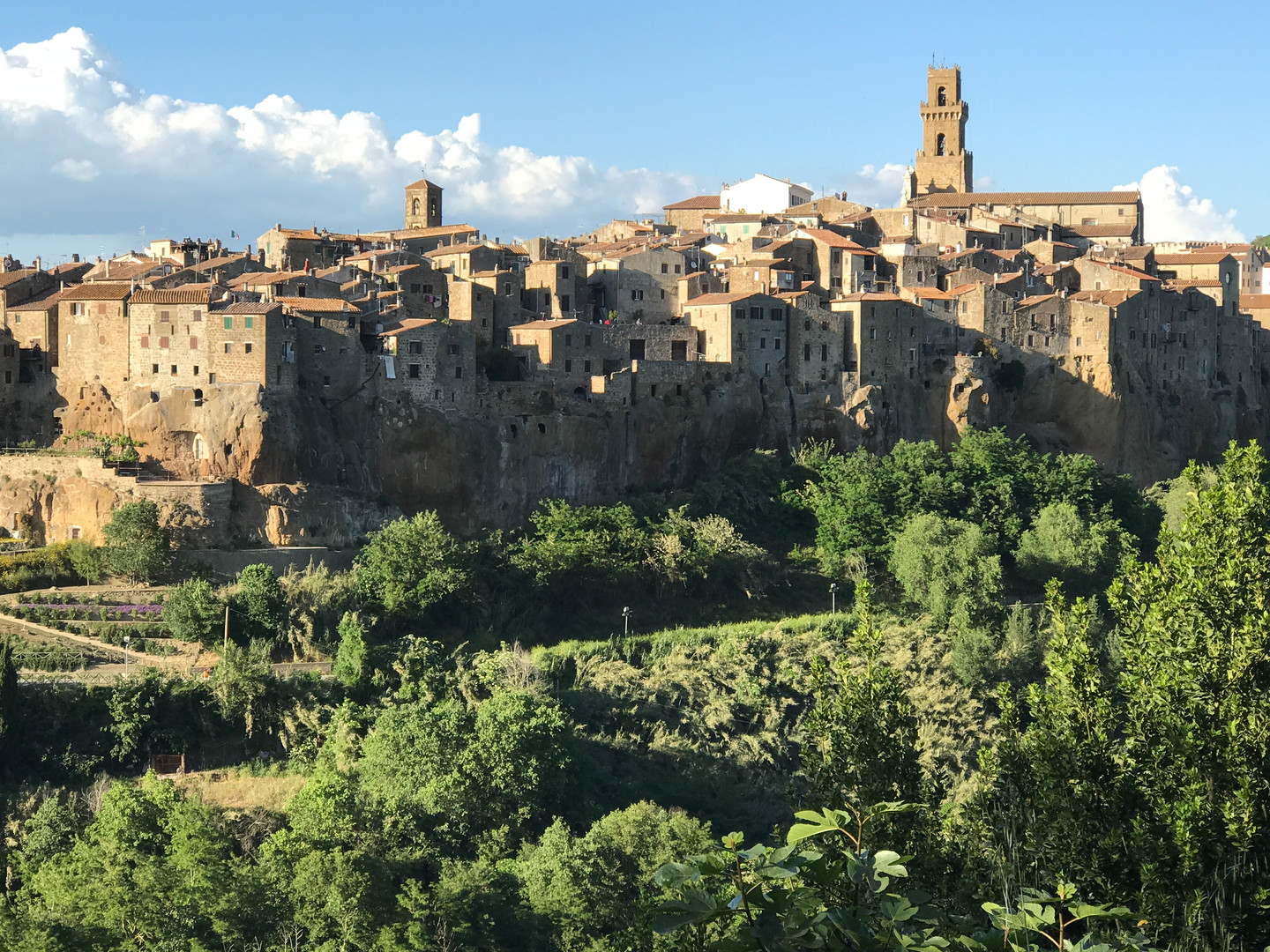 Nearby historic Pitigliano