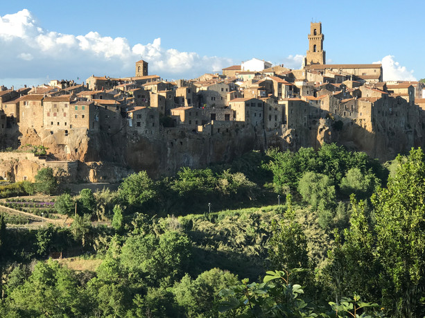 The historic Pitigliano, the next town over from Farnese