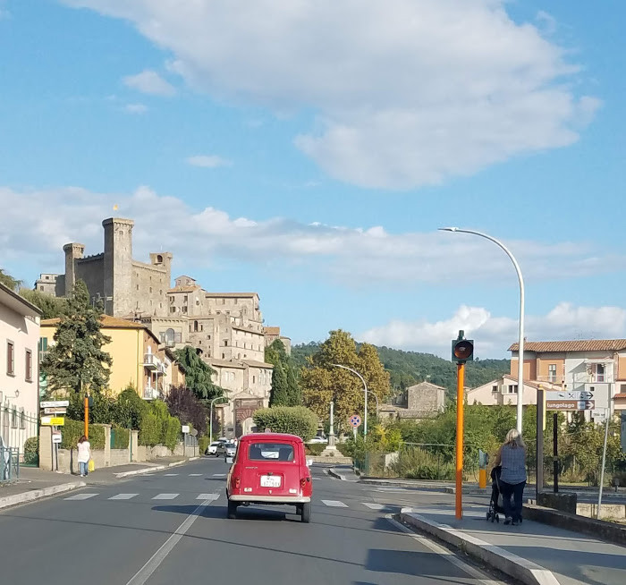 Entering Bolsena, a neighboring town