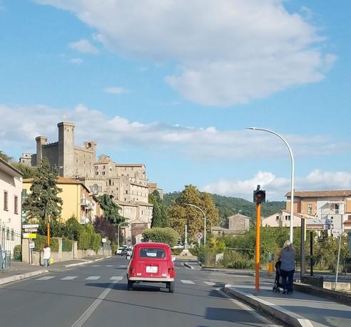 Entering Bolsena, a neighboring town