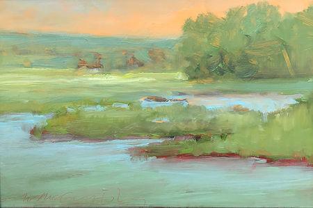 Old Lyme Marsh.  8x12. oplexi   700..jpg