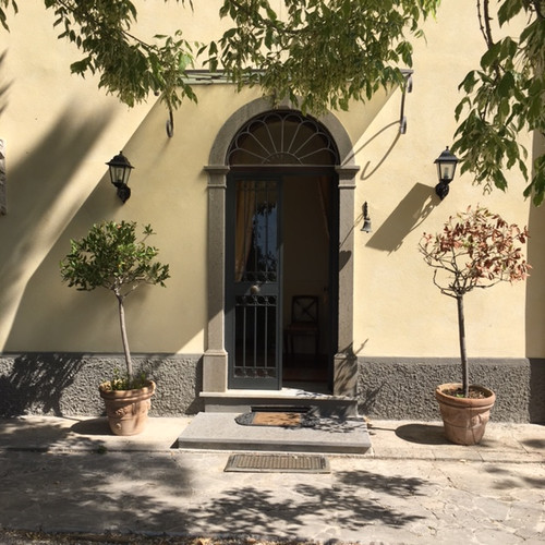 Entrance way into the Villa